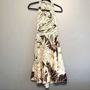 Donna Ricco size 12 halter dress floral design